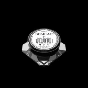 semilac spider gum black 01