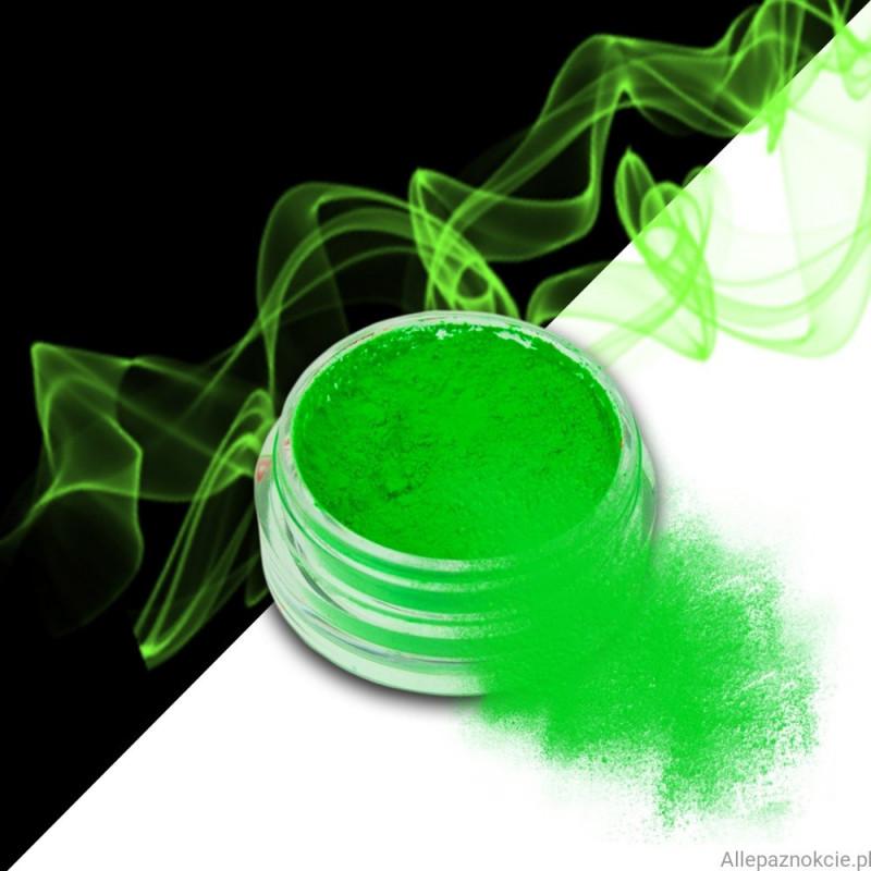smoke nails pigment do efektu dymu green 02