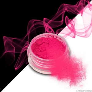 smoke nails pigment do efektu dymu neon pink 09